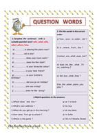 Grammar-based ´Getting to know you´ worksheet aimed at practising the use of correct wh-question words, speaking, listening, asking for clarification, asking to repeat, note-taking and short presentations or talking in front of the class. Fully editable, printer-friendly colours (background colour does not print) and plain vanilla version (without any colour or clip art) included on 2nd page. Answer key provided.For similar worksheets, check out  http://en.islcollective.com/wor...
