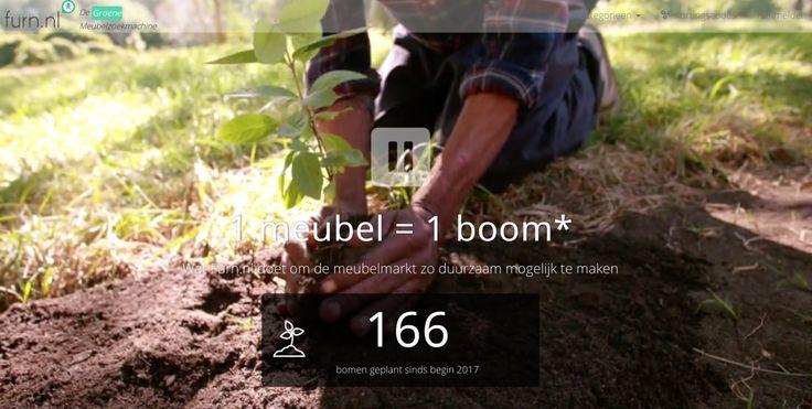 Vanaf vandaag plant Furn.nl een boom voor (vrijwel) elk verkocht meubel. Lees er meer over op http://lnk.al/4FCt