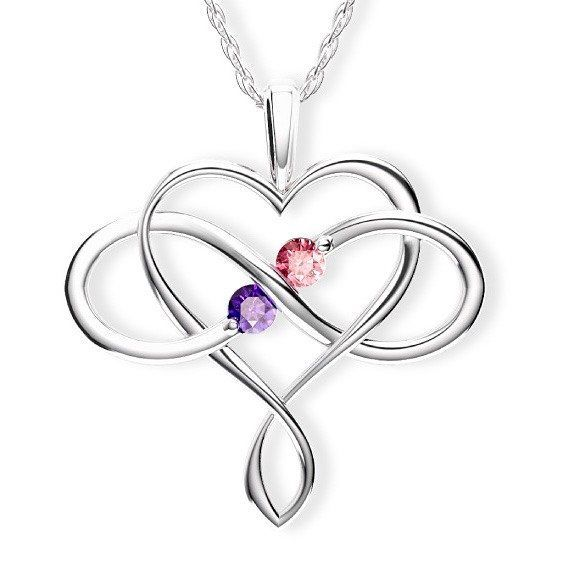 Together forever  Shop the Soulmates Infinity Birthstone Pendant now