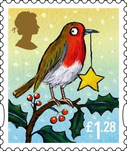 The Gruffulo artist (Axel Scheffler) has done some of this years christmas stamps. UK #postage_stamps #robin