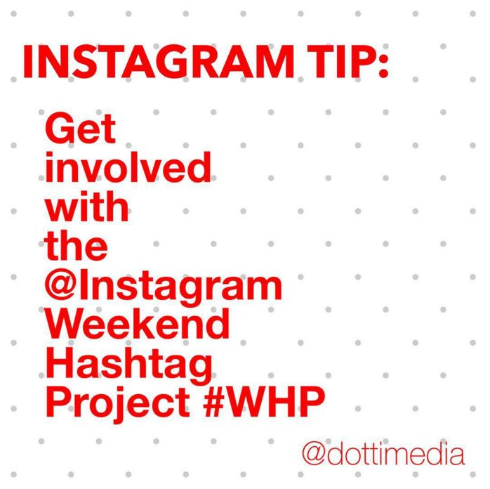 #GetInstaSavvy Tips: Every weekend the official Instagram account runs the Weekend Hashtag Project. There's a different theme each week with a specific hashtag and you can join in by capturing a photo or video that ties in with the theme. When you post it on Instagram, you add the hashtag in the comment and then there's the chance that your photo/video might get featured on the #Instagram account.