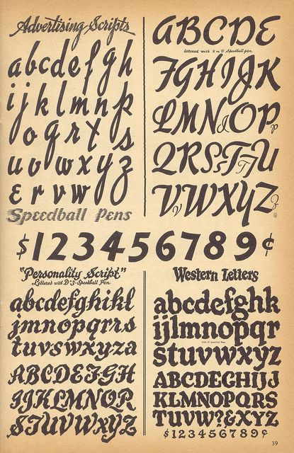17 Best Images About Lettering Calligraphy Fonts On