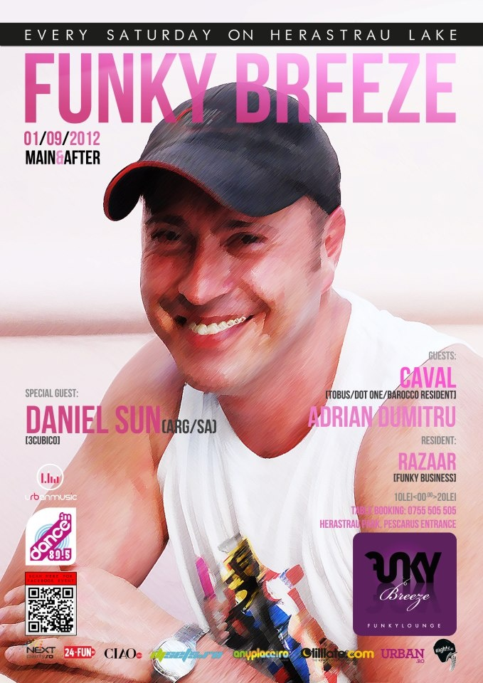 Sat 01/09 Daniel Sun (ARG), Caval, Adrian Dumitru, Razaar @ Funky Breeze Herastrau