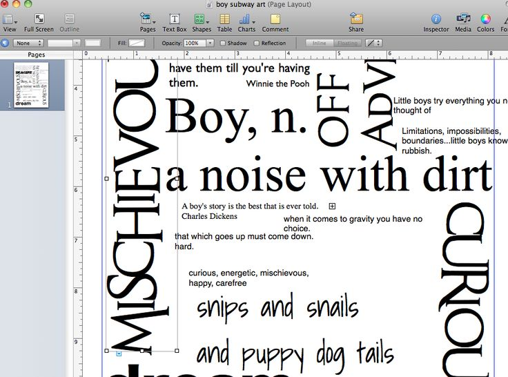 How to make Subway art in Mac Pages or Microsoft Publisher/Word. Actual instructions on how to put the words together, not how to paint/vinyl/modpodge the sign.