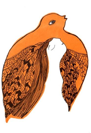 suchay beautiful feeling of freedom. mina braun's illustrations are <3 #bird #flying
