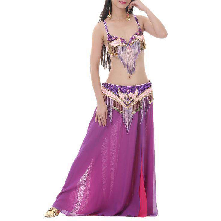 Opentip.com: BellyLady Tribal Fringe Sequin Bra & Waist Belt, Belly Dancer Costume Set