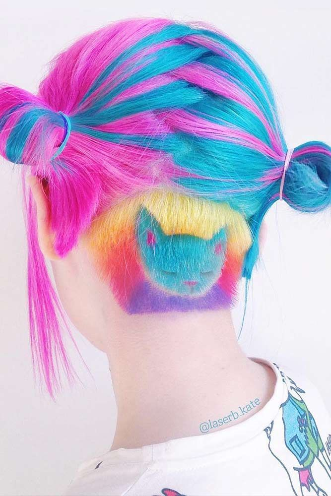 18 Awesome Ideas with an Undercut for Daring Women ★ Cute Colorful Undercut Ideas with Hair Tattoos Picture 2 ★ See more: http://glaminati.com/undercut-hairstyle-women/ #undercut #undercuthairstyle