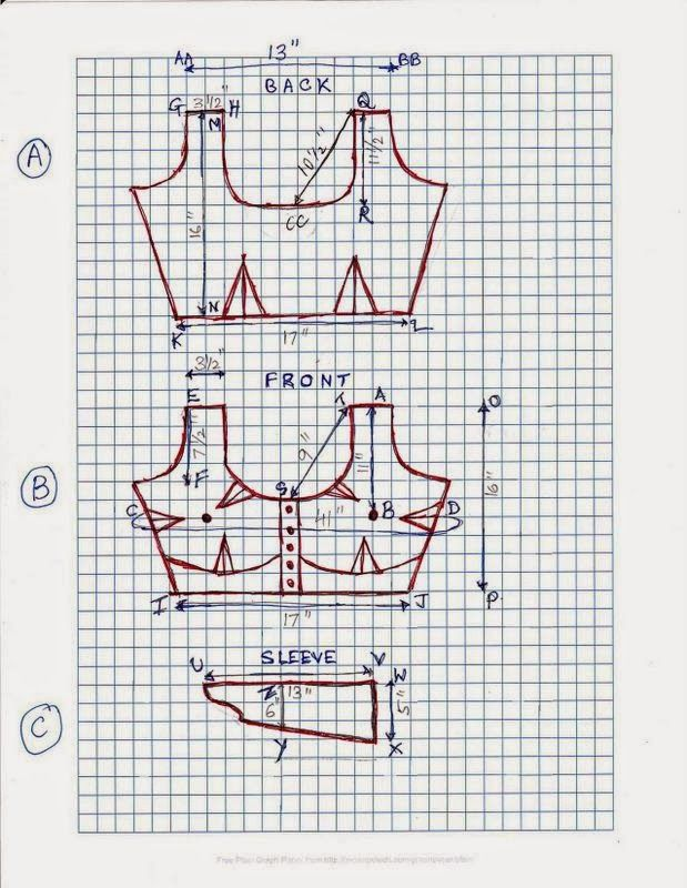 Fashion CAD Pattern Making - Free Sewing Pattern Download: 44 SIZE BLOUSE PATTERN - PAPER CUTTING