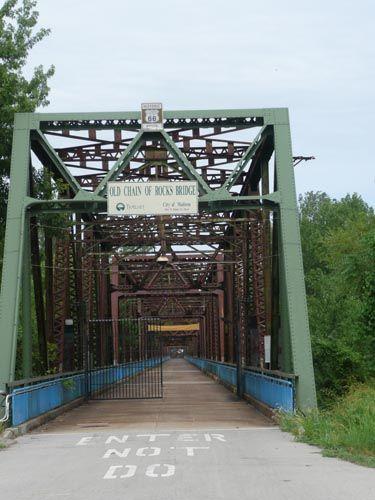 Old Alton Illinois   Historic Chain of Rocks Bridge on old Route 66, I crossed this bridge ...