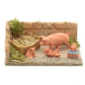 Cerdos para ambientar el pesebre | venta online en HOLYART