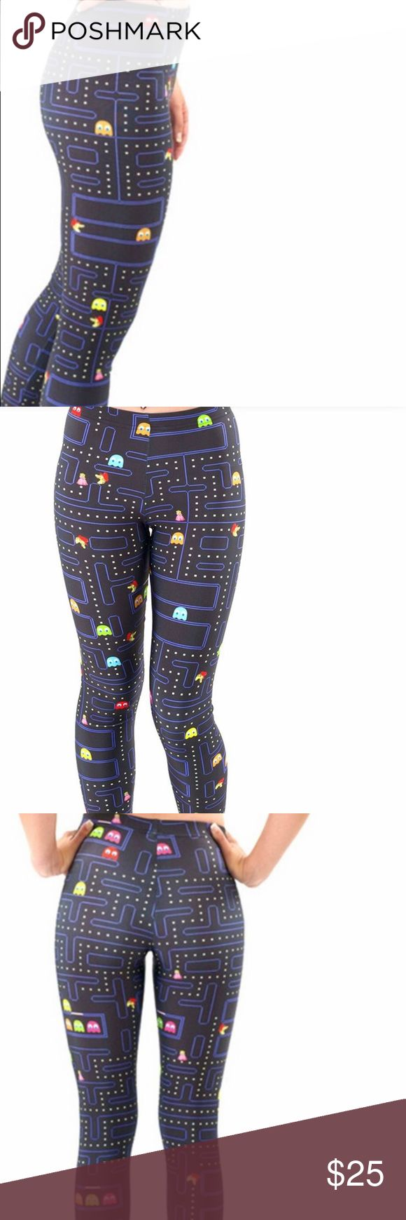 ☄️RESERVED! PAC MAN LYCRA LEGGINGS SZ MEDIUM ☄️RESERVED! NWT PAC MAN LYCRA LEGGINGS SZ MEDIUM FULL LENGTH RETRO STYLE 1980s. EXPECT CONSTANT COMMENTS & COMPLIMENTS! MIDWAY Pants Leggings