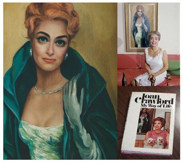 Portrait of Joan Crawford, by Margaret Keane. (Can be seen in the background on the cover of her book, My Way of Life).