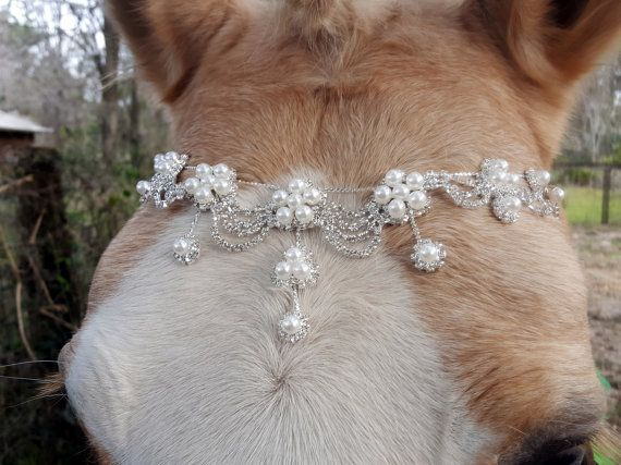 Pearl Drops Browband for Mini Pony Horse or Draft by MyBuddyBling