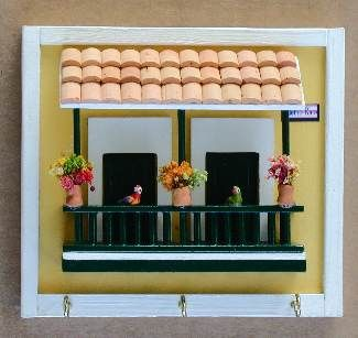 Ceramic houses of puerto rico old san juan style casita for Casita de plastico para jardin