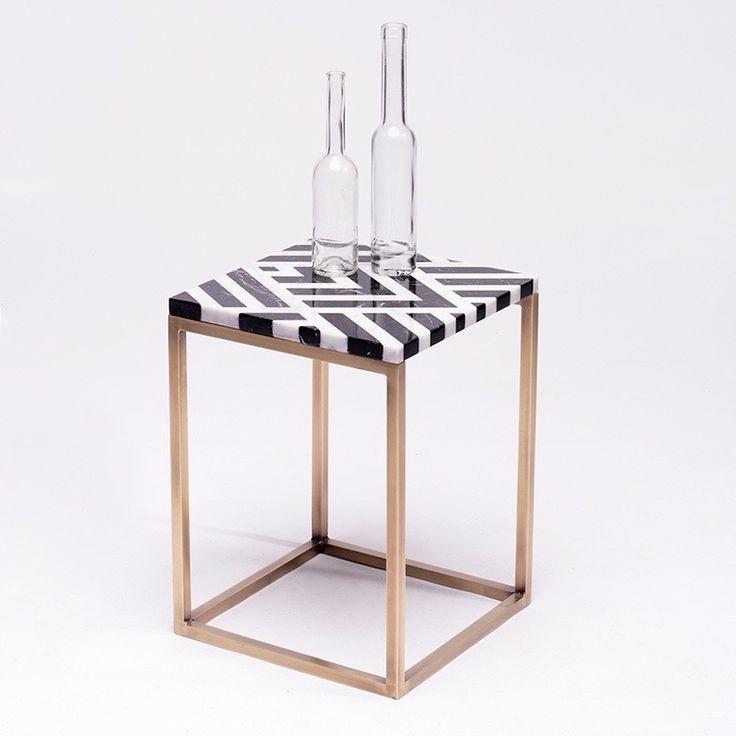 Fir brass&marble table