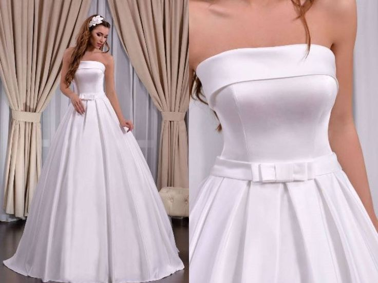 Gorgeous Ball Sleeveless Strapless Satin Wedding Dress by Poshfair on Etsy can be custom ordered