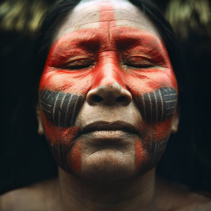Kayapó faces - ph Rodrigo Petrella