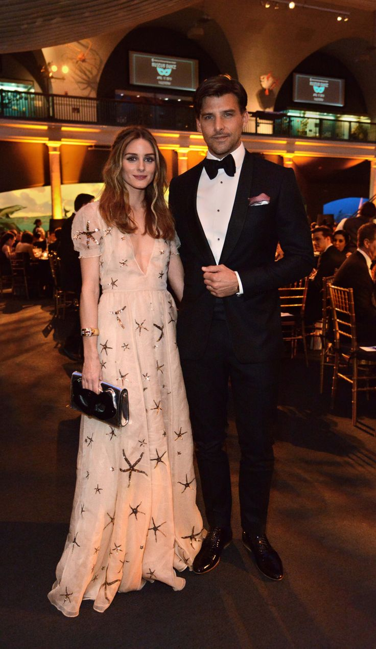 Olivia Palermo and Johannes Huebl attended a roaring twenties masquerade ball on April 17, 2015
