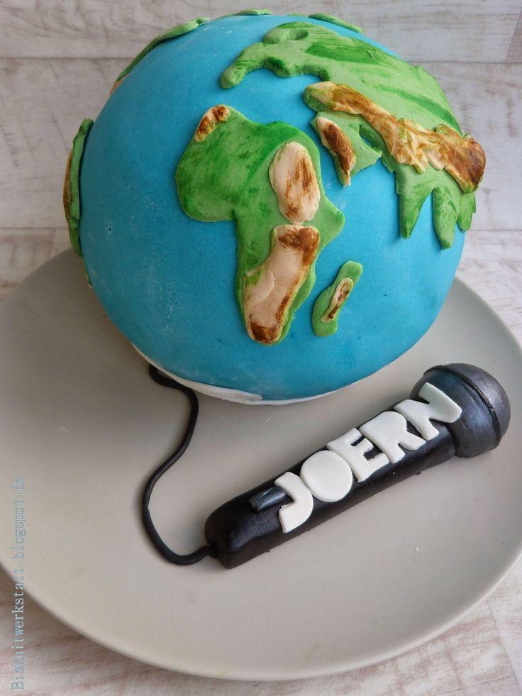 Biskuitwerkstatt Die Welt ist tatsaechlich eine Kugel ! Der Beweis: Weltkugeltorte http://biskuitwerkstatt.blogspot.com