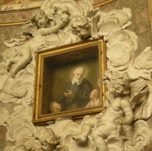 Dipinto di Guido Reni nel battistero lateranense (S.Giovanni in Fonte), Roma