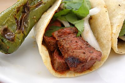 Grilled Flat Iron Tacos with Sweet Pickled Onions | Seasonal & Savory