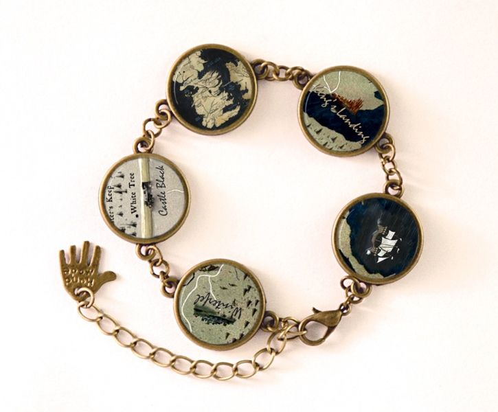 Bracelet Game of Thrones Map,  Jewellery, 0183BB from EgginEgg by DaWanda.com