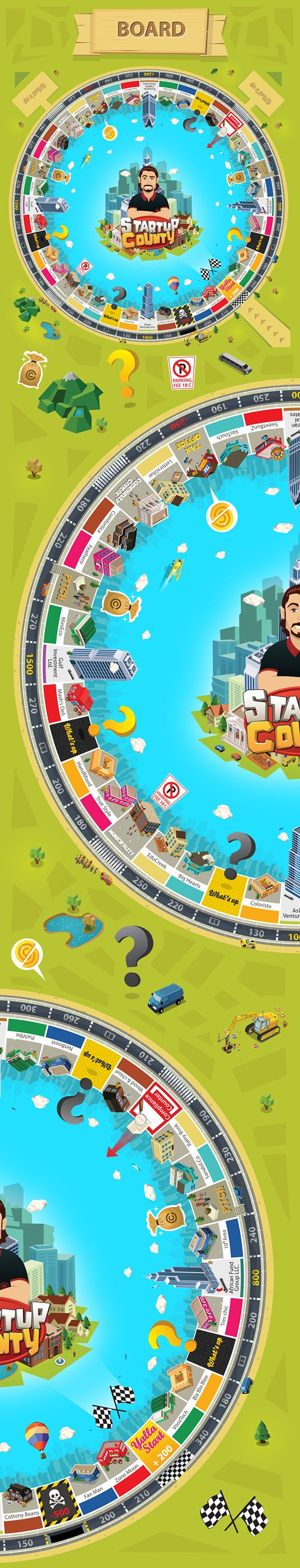 Startup County - Board Game on Behance