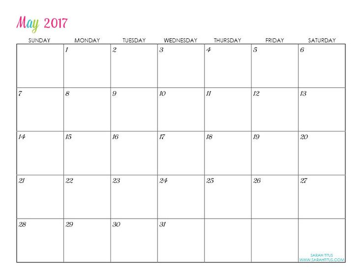 12 best Calendario 2017 images on Pinterest Free printable - blank calendar pdf
