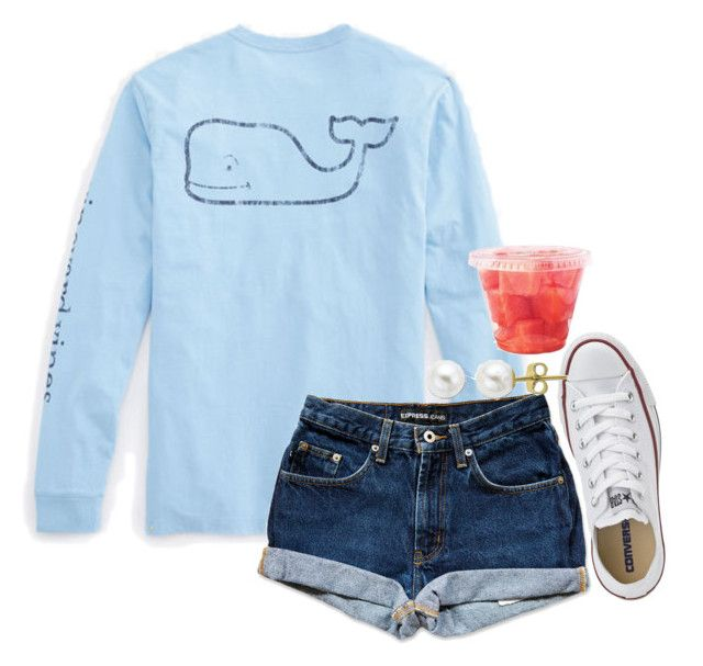 """"""":(: u choose"""" by thefashionbyem ❤ liked on Polyvore featuring Vineyard Vines, Converse, Lord & Taylor, women's clothing, women, female, woman, misses and juniors"""