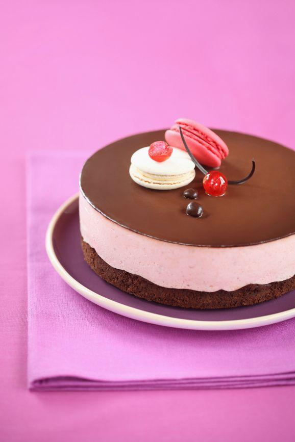 Verdade de sabor: Шоколадно-вишнёвый торт-мусс / Torta mousse de chocolate e cereja