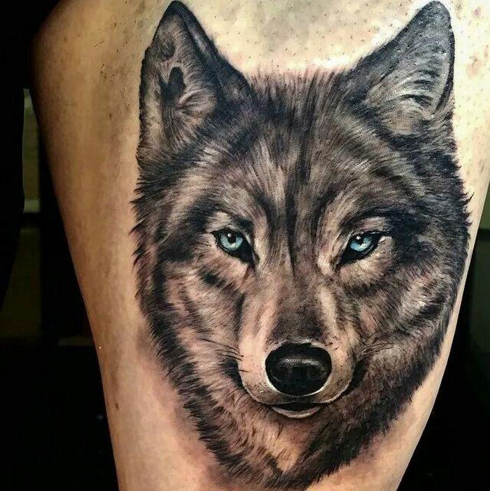 Powerful Wolf Tattoos