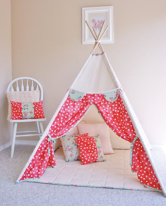 Coordinating Set Pink Polka Dot Tent and by AshleyGabby on Etsy, $260.00