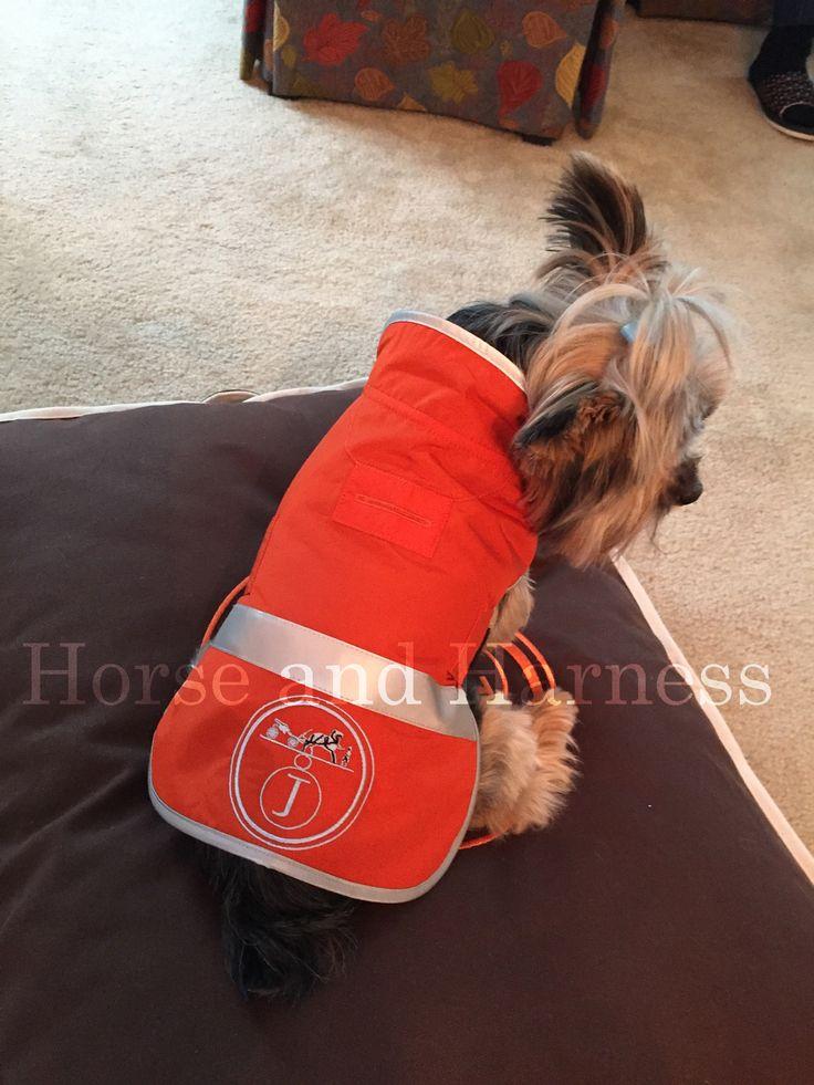 HERMES CUSTOM DOG EMBROIDERED DOG JACKET FOR MOST PAMPERED