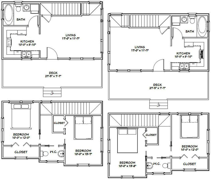 28x16 Tiny Houses These are PDF plans and will be emailed