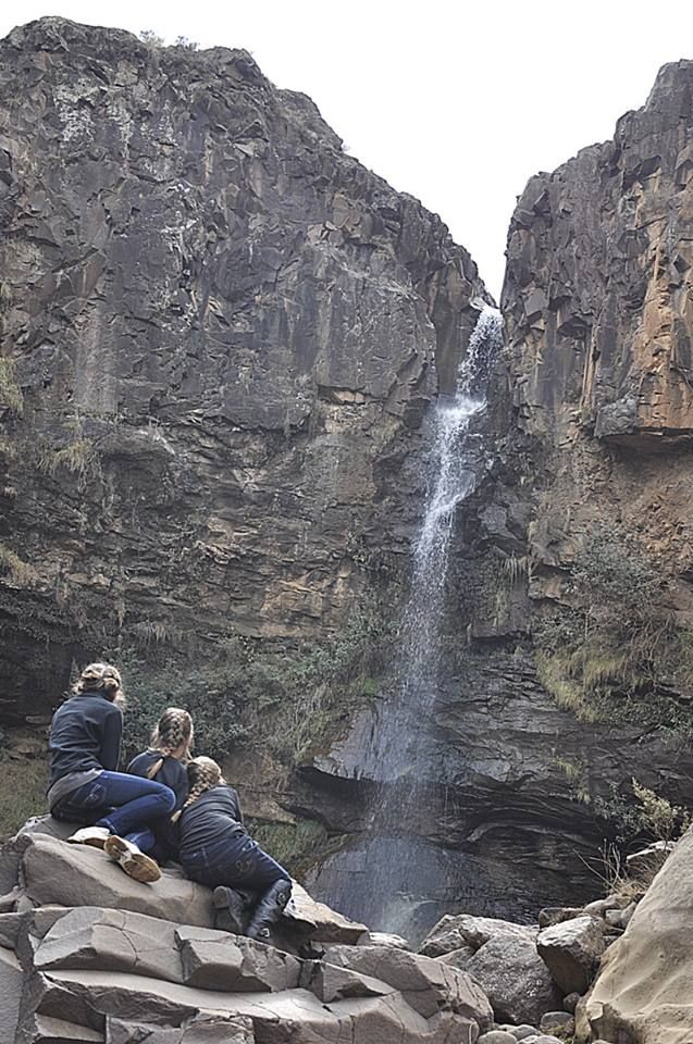 pony trek -- #Malealea, #Lesotho, Africa -- #Botsoela Waterfall