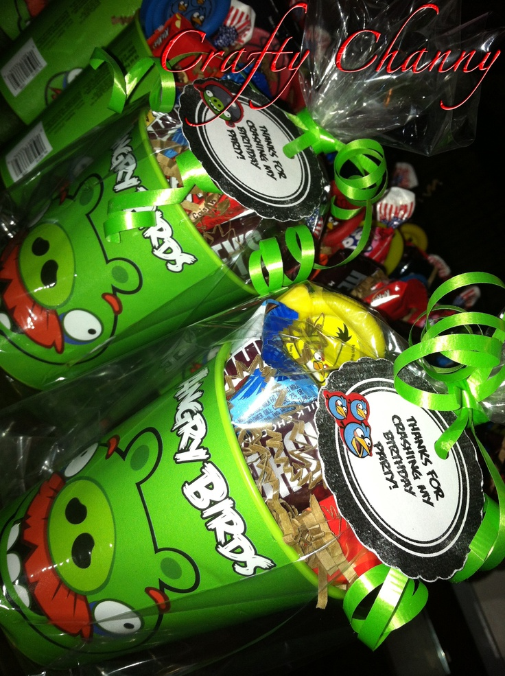 DIY Angry Birds Party Favors