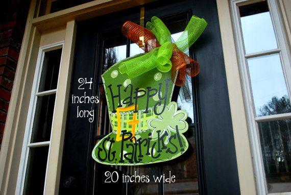 St Patricks Day Door Hanger St Patricks Day by LooLeighsCharm