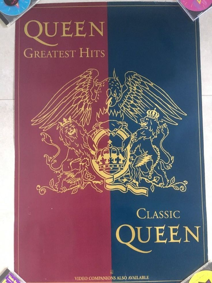 Queen - Greatest Hits Classic Queen - USA - Hollywood records 60 x 90 cm RARE