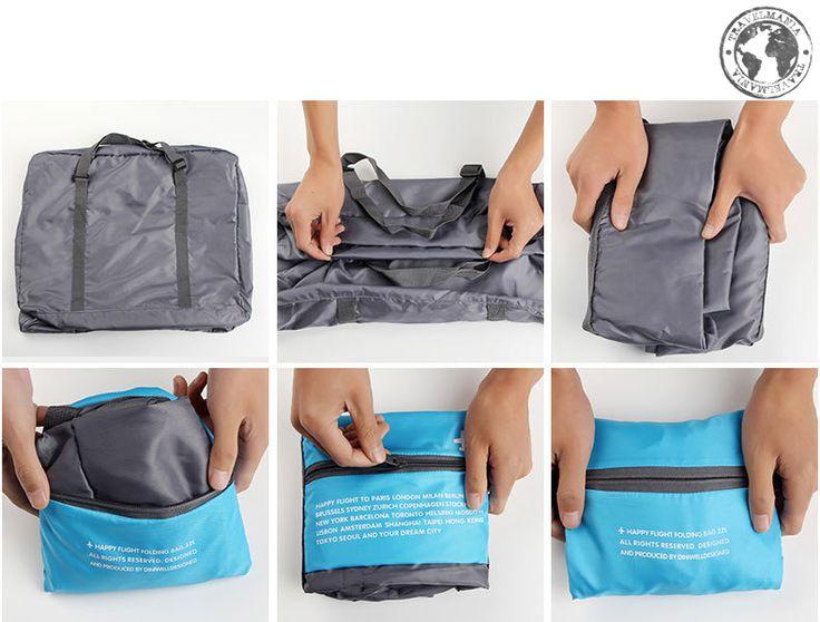 Bolso de Viaje plegable, extensión de maleta. Medidas: 46 x 36,5 x 20 cm.