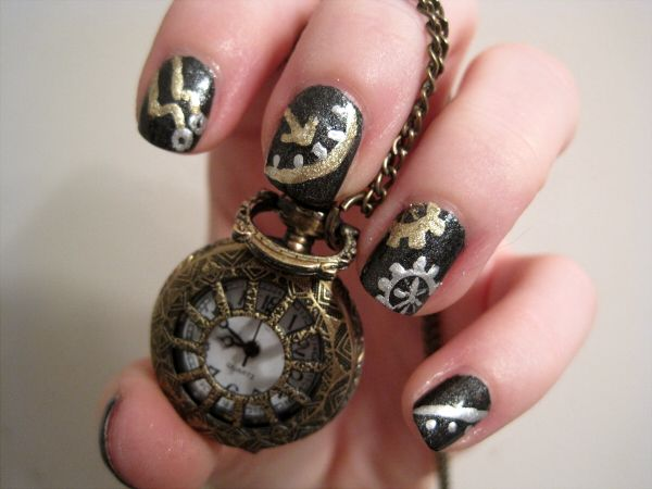 Best 25 steampunk nails ideas on pinterest pretty nails steampunk nails lovely and simple prinsesfo Gallery