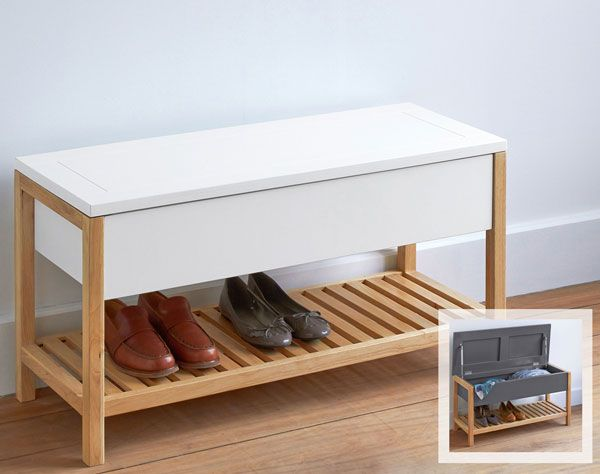 8 best meuble chaussures images on Pinterest Benches, Clutter and - meuble chaussure avec porte manteau