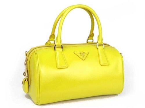 Prada Yellow Saffiano Leather Handbag \u2013 Model ? Clothing Impulse ...