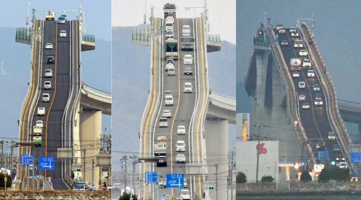 Take A Super Tall Roller Coaster Ride On Eshima Ohashi Bridge