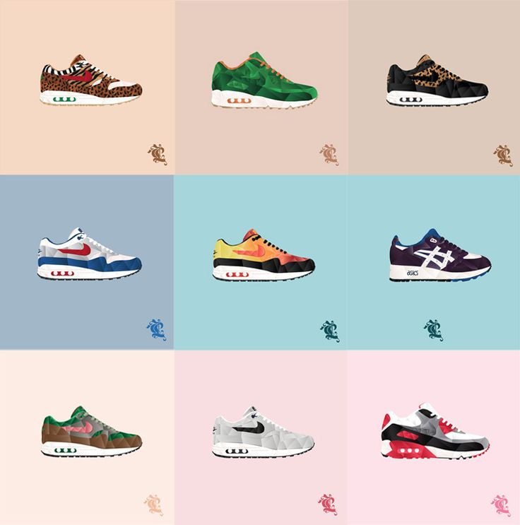 caroll lynn illustrations sneakers
