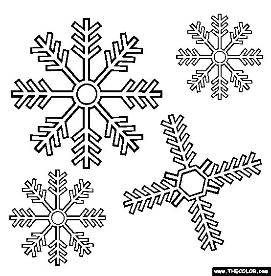 Snowflakes Coloring Page | Free Snowflakes Online Coloring