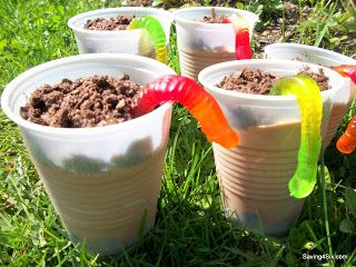 Wiggle Worm Dirt Pudding | Saving 4 Six