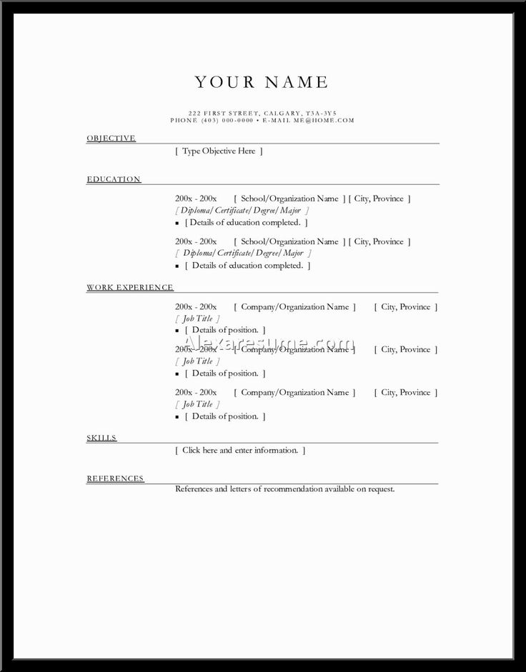 Pinterestu0027teki 25u0027ten fazla en iyi Basic resume examples fikri - example of a simple resume for a job