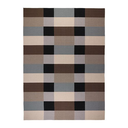 Ikea STOCKHOLM Rug, flatwoven, checkered, brown..... LOVE THIS RUG AND COLORS!!!!