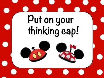 Cute Mickey and Minnie Mouse inspired poster for your classroom! Disney theme class!