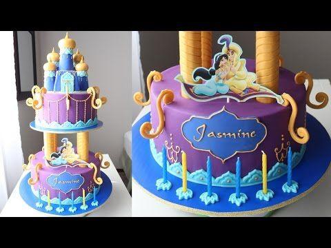 Aladdin and Jasmine Cake Tutorial - YouTube